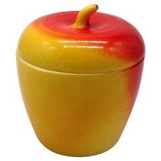 Vintage Hazel Atlas Milk Glass Apple Jam Jar from 1930s in Vintage Condition