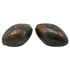 Vintage 1930-50s S&P  Metal Shakers Form of Football Vintage Condition