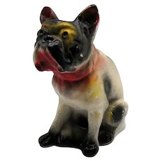 Vintage Carnival Chalk ware French Bulldog Figure 1930-50s Vintage Condition