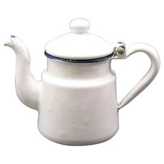 Vintage Mini Coffee Pot Enamelware Creamer 1930-50s Vintage Condition