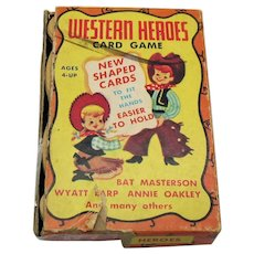 Vintage Western Heroes Card Game 1950s Free Shipping