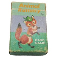 Vintage Animal rummy Card Game 1950-60s Vintage Condition