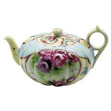 Vintage Japanese Porcelain Teapot Hand Painted Enamel Paint 1920-30s Vintage Condition