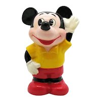 Vintage 1970s Ceramic Mickey Mouse Still Bank Good Condition