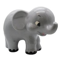 Vintage Ceramic Elephant Figurine 1970s Good Condition