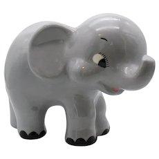 Vintage Ceramic Elephant Figurine 1970s Good Condition