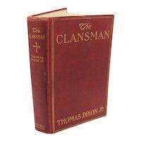 Vintage Thomas Dixon Jr. Book The Clansman 1905 Good Condition FREE SHIPPING