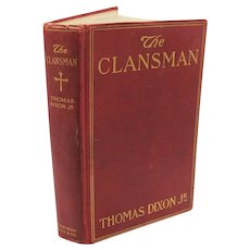 Vintage Thomas Dixon Jr. Book The Clansman 1905 Good Condition FREE SHIPPING