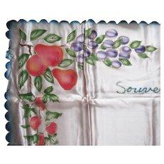 Vintage Souvenir Brasil Linens Runner/Tablecloth 4 Napkins 1930-50s Good Condition