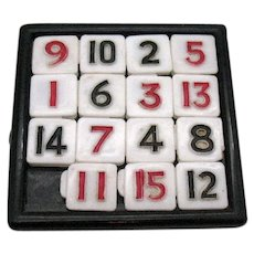 Vintage Hard Plastic Sliding Number Puzzle 1950-60s Good Condition