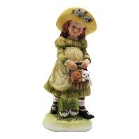Vintage Holly Hobbie Creation Bisque Porcelain Figurine 1973 Good Condition