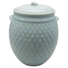 Vintage Hull Cookie Jar 1930-40s Diamond Quilt Pattern Good Condition