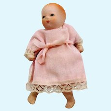Vintage Doll with Bisque Hands Feet Head 1930-50s Vintage Condition