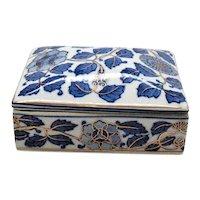 Vintage Porcelain Trinket/Cigarette Box 1950-60s Good Condition