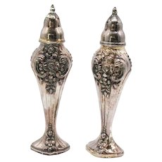 Vintage Silver Plated Rogers Oneida Shakers 1930-50s Good Vintage Condition