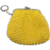 Vintage Yellow Beaded Coin Purse with Key Holder Kiss Lock Closure 1950-60s Good Condition