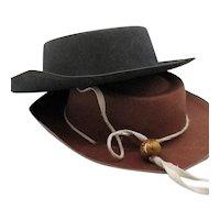 Vintage  Felt Western Cowboy Hats 1950s Good Vintage Condition