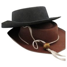 Vintage  Felt Western Cowboy Hats 1950s Good Vintage Condition