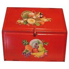 Vintage Metal Breadbox 1940-50s Good Vintage Condition