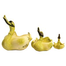 Vintage Set of 3 Hull Duck Novelty Planters 1950-60s Vintage Condition