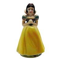 Vintage Walt Disney Ceramic Figurine Snow White 1960 Good Vintage Condition