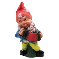 Vintage Vinyl Gnome Figurine Made in West Germany 1960-70s Good Vintage Condition