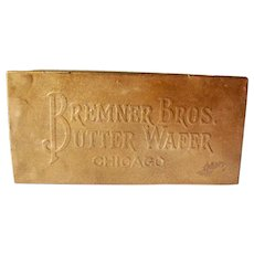 Vintage Bremner Bros Butter Wafers Chicago Tin 1907-1920s Good Condition