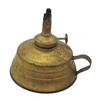 Vintage Antique Kerosene Metal Planters Hand Lamp by Plume & Atwood Mfg. Co. Circa 1905 Good Vintage Condition