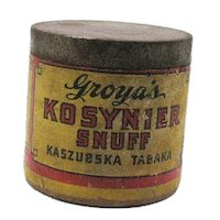 Vintage Early Snuff Container Groya's  Kosynier Snuff Made in Chicago Early 1900s Vintage Condition