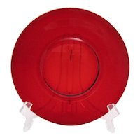 Vintage 9 Anchor Hocking R1700 Pattern Ruby Red Luncheon Plates 1950-70 Like New Condition