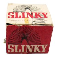 Vintage Slinky Metal Toy 1960s Original Box Good Condition