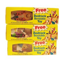 Three Vintage Premiums From Post Cereal Flintstones Never Opened Original Package 1992 Excellent Condition