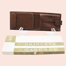 Vintage Princess Gardner Man's Brown Leather Wallet 1970s Good Unused Condition