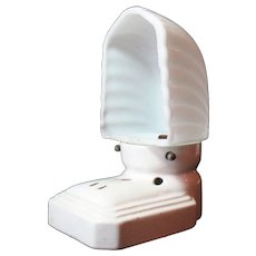 Vintage Bathroom Porcelain Wall Light Sconce Early 1900s Used