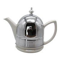 Vintage Hall China Co. Teapot Made for Forman Family, Inc. 1940-50s Good Condition