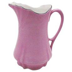 Vintage German Pink Ceramic Creamer/Milk Pitcher 1930s Good Condition