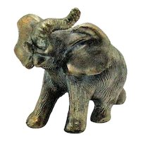 Vintage Metal Elephant Figure Paperweight 1950-60s Good Condition