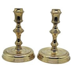 Vintage Baldwin Brass Candleholders Made for Smithsonian 1960-70s Good Condition