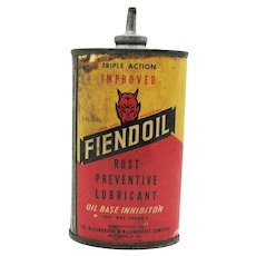 Vintage Fiendoil Container 1940s Vintage Condition
