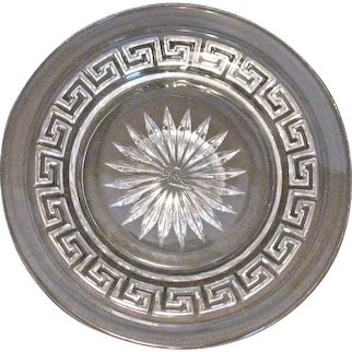 Vintage (11) Heisey Coasters with Greek Key Pattern 1912-38 Good Condition