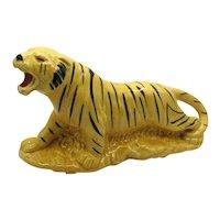 Vintage American Bisque Ceramic Tiger Planter 1950-60s Good Condition