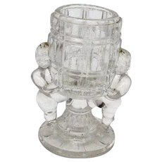 Vintage Antique Peek-A-Boo Toothpick Holder by Belmont Glass 1866-1890 Vintage Condition