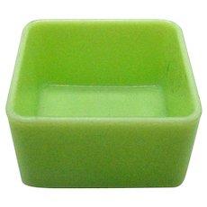 Vintage Jadeite Square Refrigerator Dish Bottom 1940-60s Good Condition