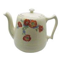 Vintage Hall China Great American Coffeepot Orange Poppy Motif 1933-53 No Crazing Good Condition
