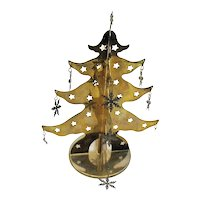 Vintage Free Standing Metal Christmas Tree Display 1960-70s Good Condition