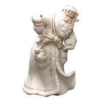 Vintage Large Ceramic/Porcelain Father Christmas Figurine by Lenox 1990s Good Condition