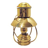 Vintage Weems and Plath DHR Nautical Brass Trawler Oil Lamp 1990s Good Vintage Condition