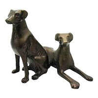 Vintage Brass Dogs Figurines 1930-50s Good Condition