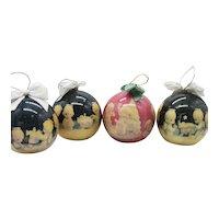 Vintage Enesco Precious Moments Christmas Ornaments 1990s Good Condition