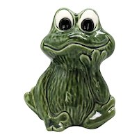 Vintage Sylvia of England Ceramic Still Frog Bank 1970-80s Good Condition
